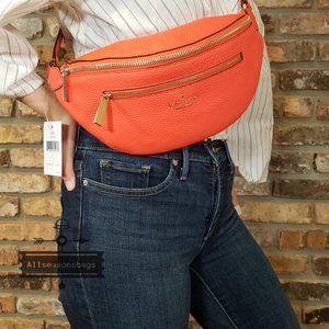 Kate Spade LEILA BELT Bag Coral Buds FANNY Belt